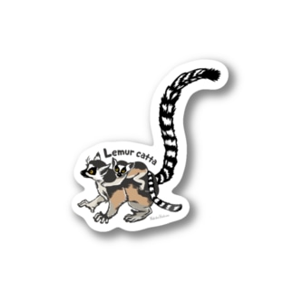 Lemur catta*ワオキツネザルステッカー Stickers