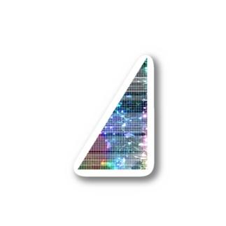線入り直角三角形 Stickers