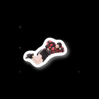 中田のショップの疲れた中田 Stickers