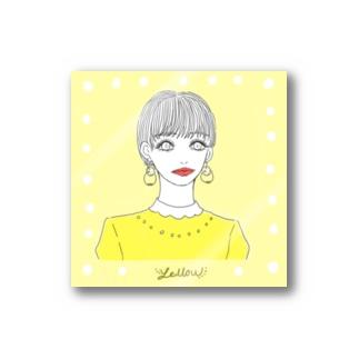 yellowな女子 Stickers