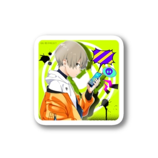 【○○男子Project】毒舌男子2四角ver  Stickers