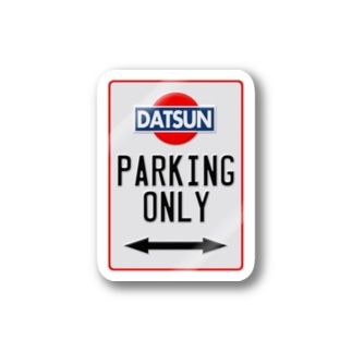DATSUN parking only Stickers