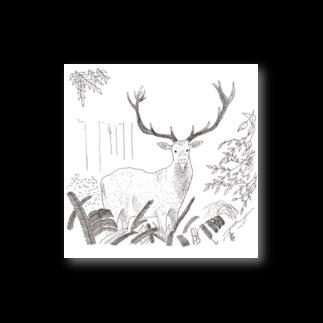 北川ともあき OnlineのDEER IN A FOREST Stickers