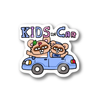 KIDS in CAR–4 Stickers