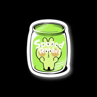 AKIRAMBOWのSpoiled Rabbit Bottle / あまえんぼうさちゃん ボトル Stickers