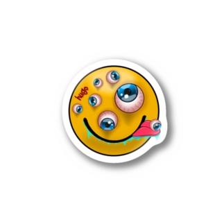 """目玉だらけ!!""""Crazyスマイル""""ステッカー Stickers"""