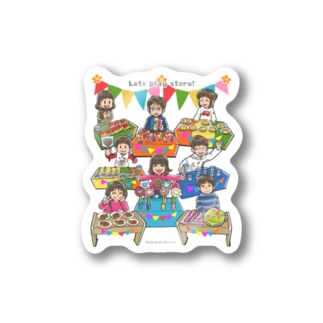 Let's play store!(片面印刷) Sticker