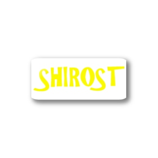 SHIROSTグッズ【黄】 Stickers