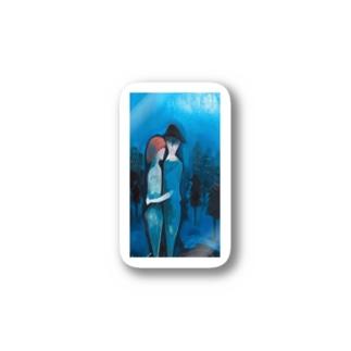 じーじの絵#1[青の抱擁] Stickers