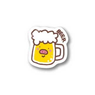 ブタビール Stickers