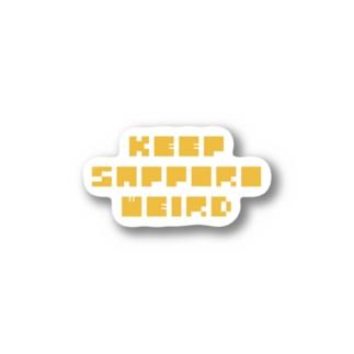 KEEP SAPPORO WEIRD Stickers