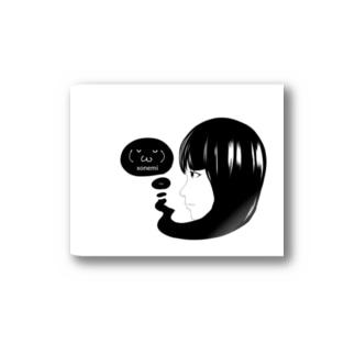 クソネミガール Stickers