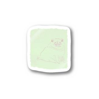左手で描いた らくがき犬  Stickers