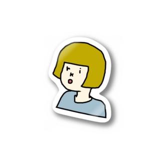 okappa riko Stickers