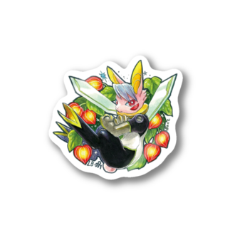 BARE FEET/猫田博人のLB-091・ステッカー Stickers