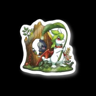 BARE FEET/猫田博人の雨の森(side:リペア)・ステッカー Stickers