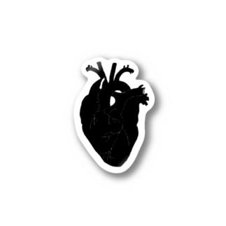 心臓(まっくろ) Stickers