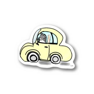 パンくんのドライブ Stickers