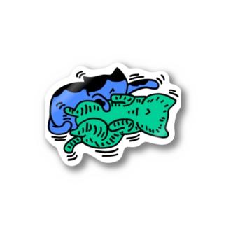 たわむれ猫 Stickers