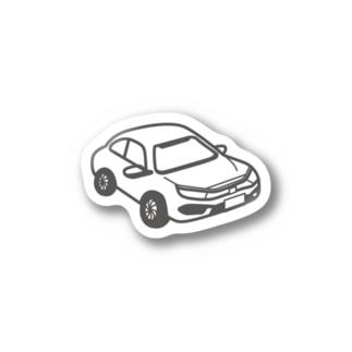 HONDA CIVIC SEDAN 風 Stickers