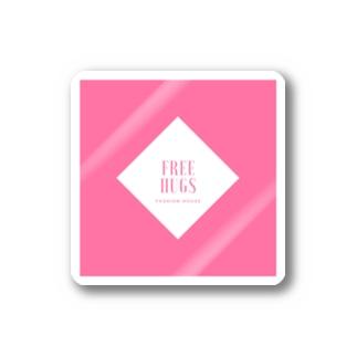 FREE HUGS(フリーハグ)【ダイヤ】 Stickers
