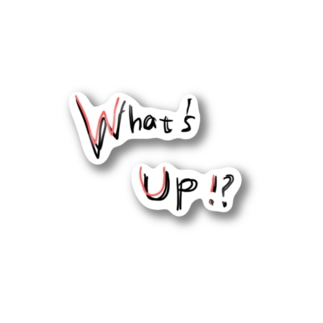 What's Up!? RED Stickers
