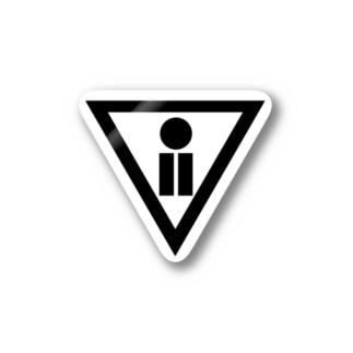 CKW財団公式ロゴマークblack Stickers