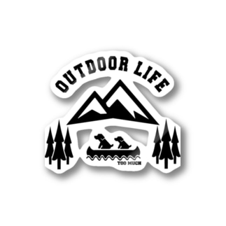 OUTDOOR LIFE黒 Stickers