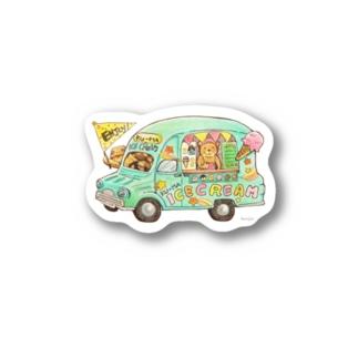 KU-MA アイスクリーム号 Stickers