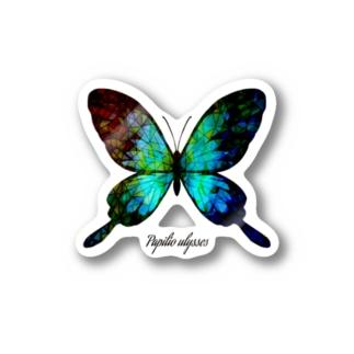蝶とステンドグラス Stickers