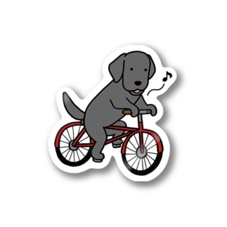 bicycleラブ ブラック Stickers