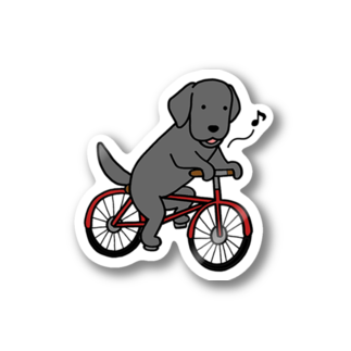 efrinmanのbicycleラブ ブラック Stickers