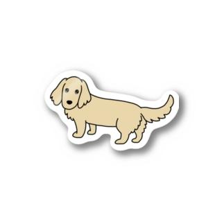 ミニチュアダックス 1 イエロー Stickers