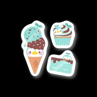 okashinaoのチョコミント・ぺんみん ステッカーB Stickers