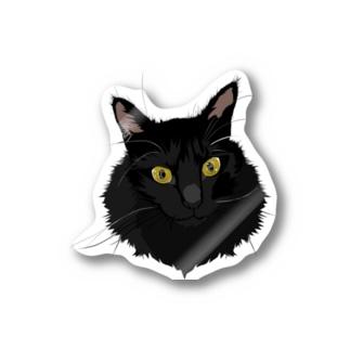 もふもふ黒猫時雨さん Stickers