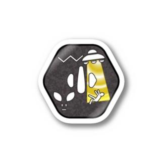 刀剣鍔 アブダクション Stickers