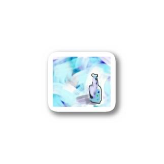 涼しげなガラス瓶 Stickers