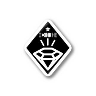 Cɐkeccooのダイヤモンド★ぴっかりんVr2黒 Stickers