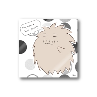 "A living hairball ""DON"" Stickers"