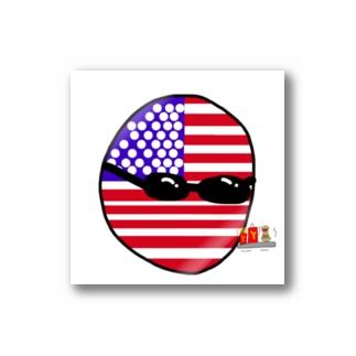 USAあめりかボール(アメリカボール)  Stickers