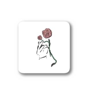 手とバラ Stickers