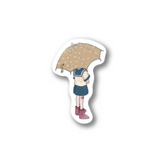傘と少年 Stickers
