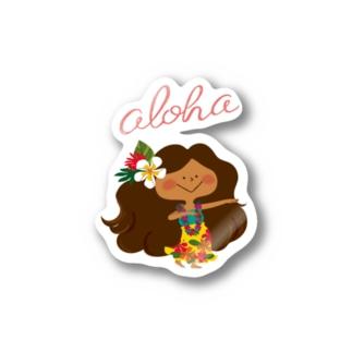 aloha! HULA KAPUA Stickers