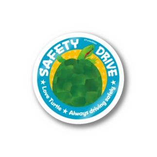 亀さんの安全運転 ブルー Stickers