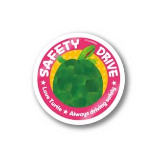 亀さんの安全運転 ピンク Stickers