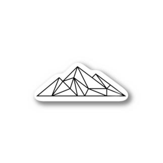 山ロゴ Stickers