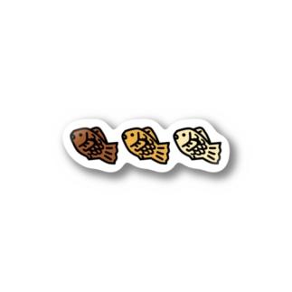 たい焼き3兄弟 Stickers