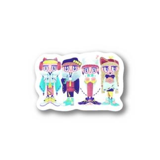 イノシシ四人衆 Stickers