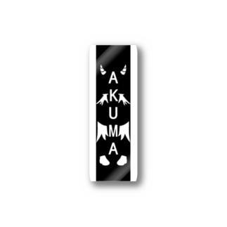 AKUMAスタイリッシュステッカー(黒) Stickers