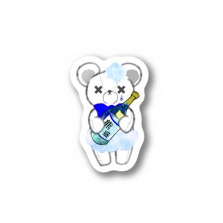 SAKEくま 泡盛 Stickers